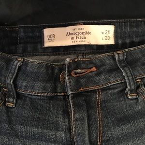 Abercrombie and Fitch jeans with zip bottoms